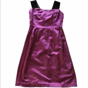 D&G Purple Satin & Black Straps Cocktail Dress